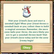 Facebook farmville freak start snowball fight