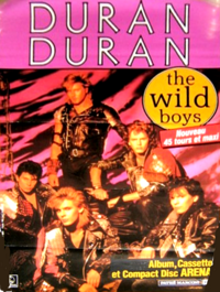 Poster french wild boys duran duran