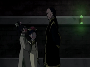 Toph, Katara, and Long Feng