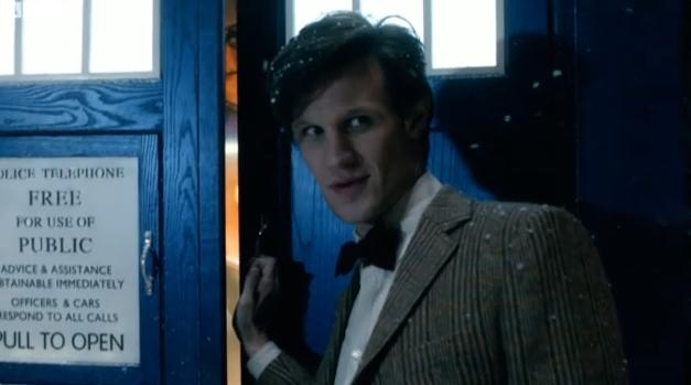 The Eleventh Doctor with his TARDIS