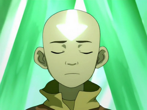Aang unlocks his chakra