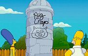 Pig crap silo