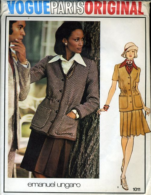 1970s Emanual Ungaro pattern featuring Beverly Johnson, Vogue 1011