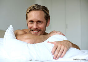In bed with alex skarsgard