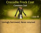Crocodile Frock Coat
