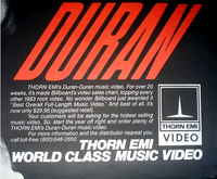 Duran duran thorn emi advert 1