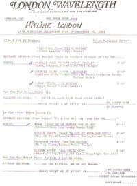 Bbc rock hour 553 duran duran cue sheet