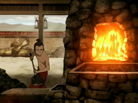 Sokka shoveling