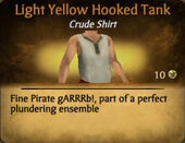 Light Yellow Hooked Tank