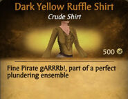 Dark Yellow Ruffle Shirt