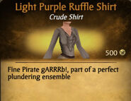Light Purple Darker Ruffle Shirt