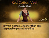 Red Cotton Vest