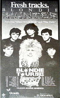Blondie tracks across america poster with duran duran 1982