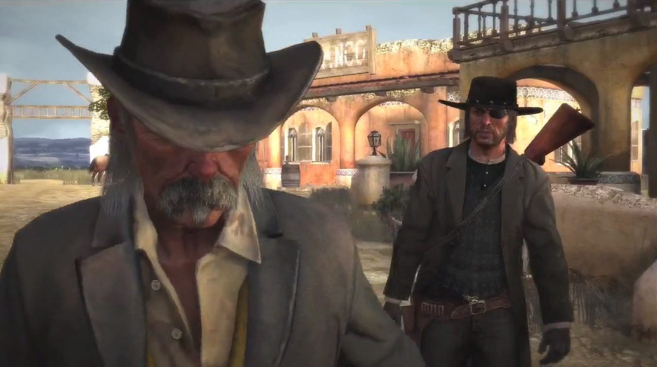 John Marston meets Landon Ricketts in Red Dead Redemption