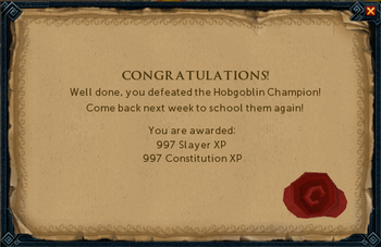 Hobgoblin Champion Reward