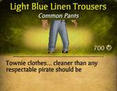 Light Blue Linen Trousers