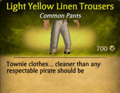 Light Yellow Linen Trousers