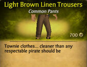 Light Brown Linen Trousers