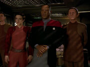 Kira, Sisko and Odo confront Ruwon