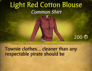Light Red Cotton Blouse