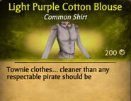 Light Purple Cotton Blouse