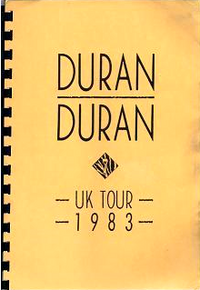 Duran duran uk tour 1983 itinerary book