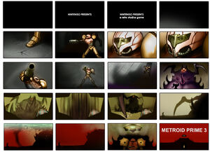 Metroid Prime 3 Ben Sprout Storyboard