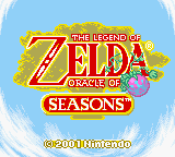 Oracle of Seasons Title Screen