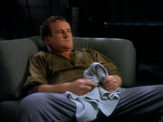 Miles O'Brien after playing racquetball