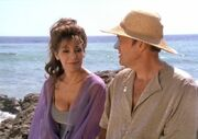 Reginald Barclay and Deanna Troi on the beach