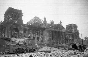 Reichstag after World War II - 1945