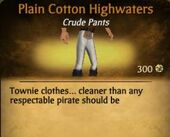 Plain Cotton Highwaters