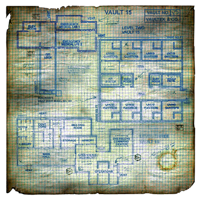 Fo1 Vault 15 Townmap