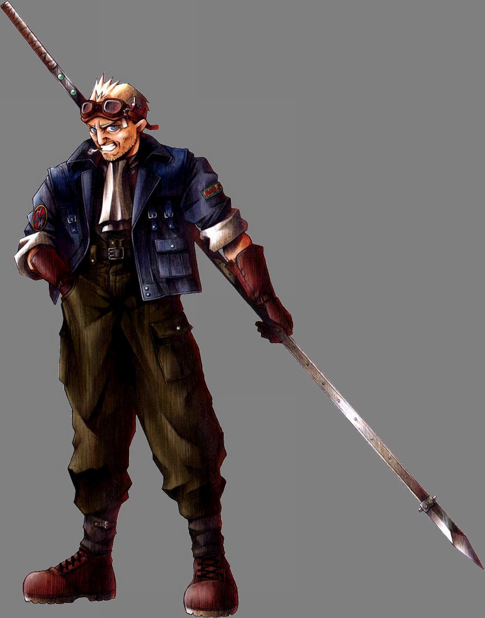 Final Fantasy VII CidHighwind-FFVIIArt