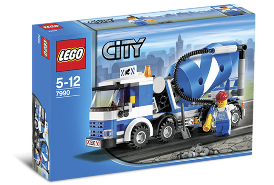 Схемы и инструкции LEGO City - Cement Mixer (Бетономешалка) - Lego 7990.