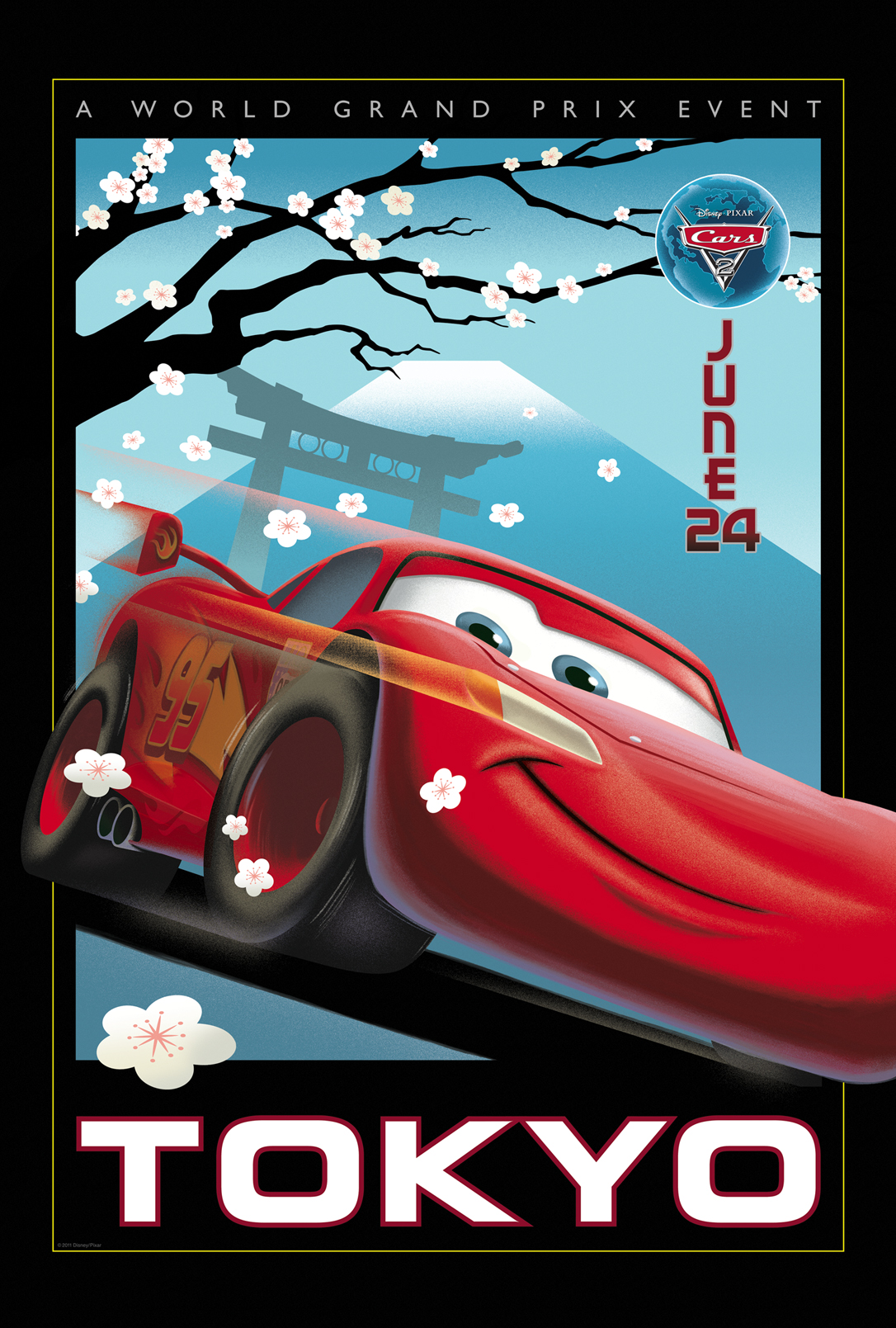 Cars 2: Tokyo Vintage Poster | Team Marco Polo