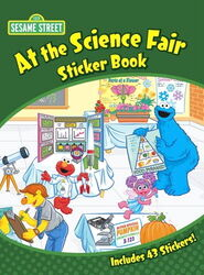 Dover at the science fair sticker