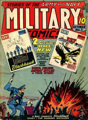 Cover for Military Comics #3