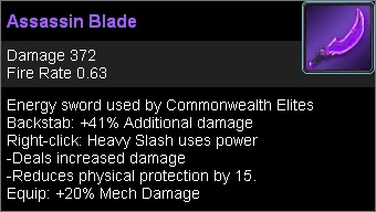 Assassin blade