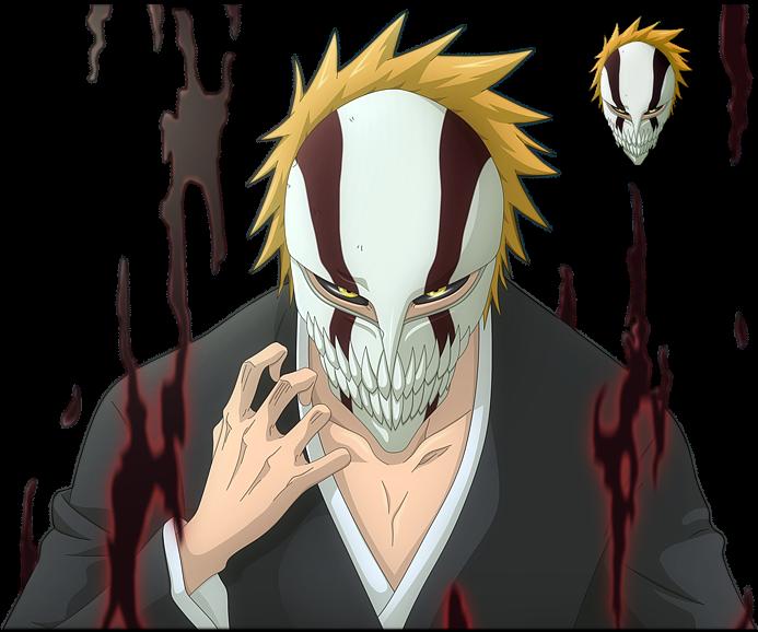 Hollowfication naruto and bleach wiki - Ichigo vizard mask ...