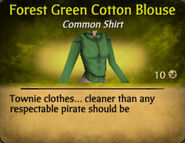 Forest Green Cotton Blouse