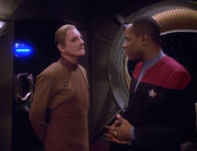 Sisko and Odo discuss a Cardassian visit - Destiny