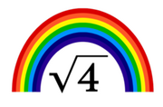 Square root of 4=RAINBOWS