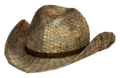 Rattan cowboy hat