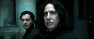DH1 Severus Snape with another Death Eater