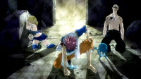 Team Natsu going to combat