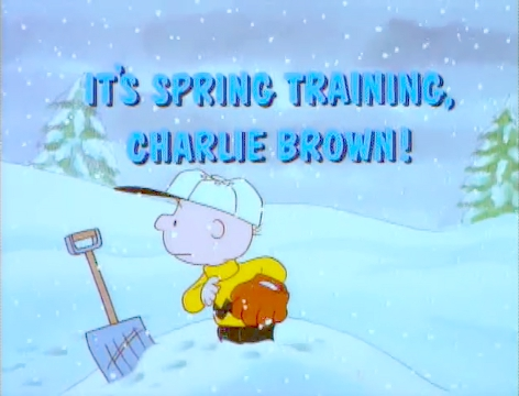 It&#39;s spring training charlie brown title card