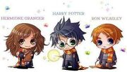 Harry Ron Hermione Cartoni
