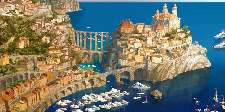 Cars 2: Italian Riviera Concept Painting