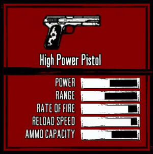 Rdr weapon high power pistol